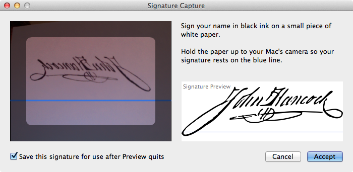 Capture Your Signature