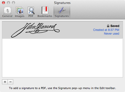 See Your Confirmed Signature