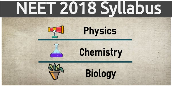 NEET 2018 Syllabus for Physics, Chemistry and Biology