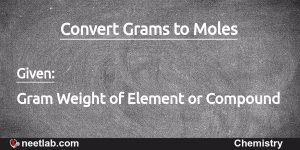 convert grams of compound to moles