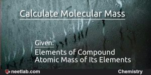 calculate molecular mass of the compound