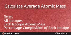 calculate average atomic mass or weight