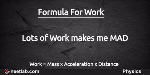 Work Formula Mnemonic