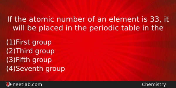 If the atomic number of an element is 33 it will be placed in the if the atomic number of an element is 33 it chemistry question urtaz Gallery