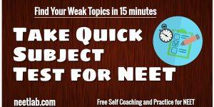 Quick Evaluation Subject Neet