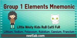 Group 1 Elements Mnemonic Little Nasty Kids Rub Cats Fur