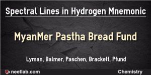 Spectral Lines In Hydrogen Spectrum Mnemonic
