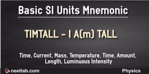 Basic Si Units Mnemonic