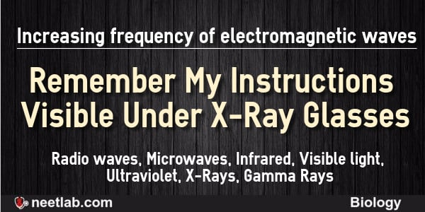 Increasing Frequency Of Electromagnetic Waves Mnemonics