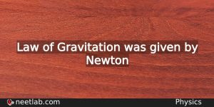 Who Gave Law Of Gravitation Physics