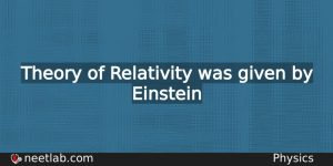 Who Gave Theory Of Relativity Physics