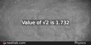 Value Of 3 Physics