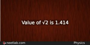Value Of 2 Physics