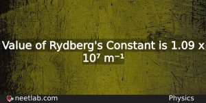 Rydbergs Constant Physics