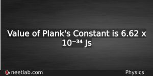 Planks Constant Physics