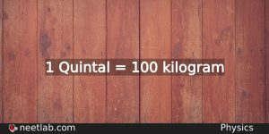 How To Convert Quintal To Kilogram Physics