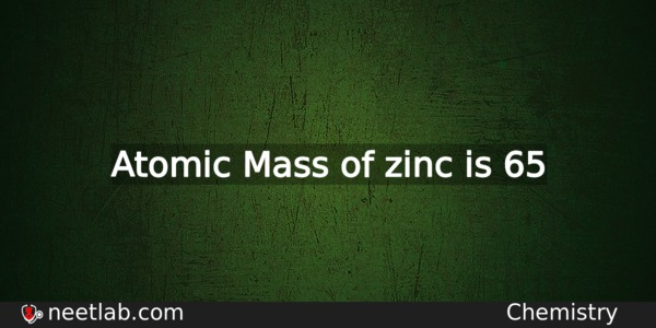 What Is The Atomic Mass Of Zinc
