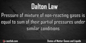 Dalton Law States Of Matter Gases And Liquids Explanation