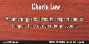 Charle Law States Of Matter Gases And Liquids Explanation