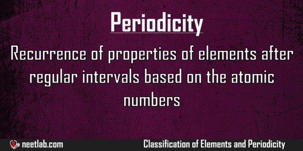Periodicity Classification Of Elements And Periodicity Explanation