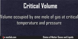 Critical Volume States Of Matter Gases And Liquids Explanation
