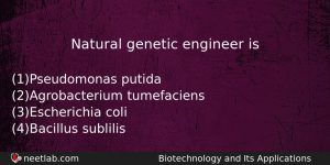 Natural Genetic Engineer Is Biology Question