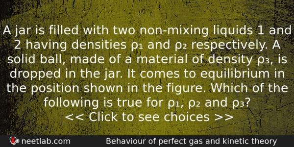 non mixing liquids