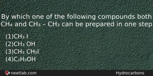 By Which One Of The Following Compounds Both Ch And Chemistry Question