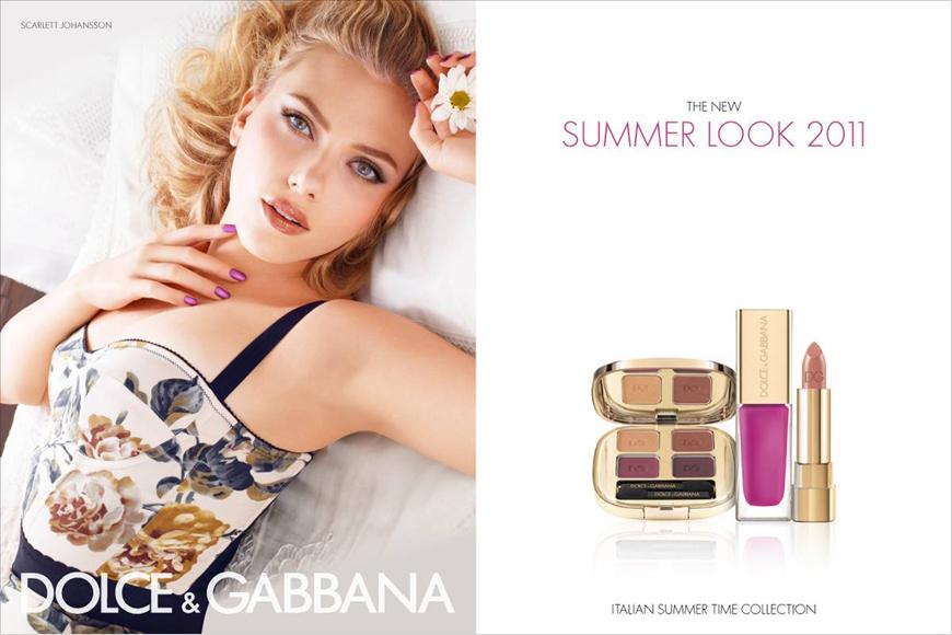 Dolce & Gabbana Summer 2011 makeup campaign with Scarlett Johansson
