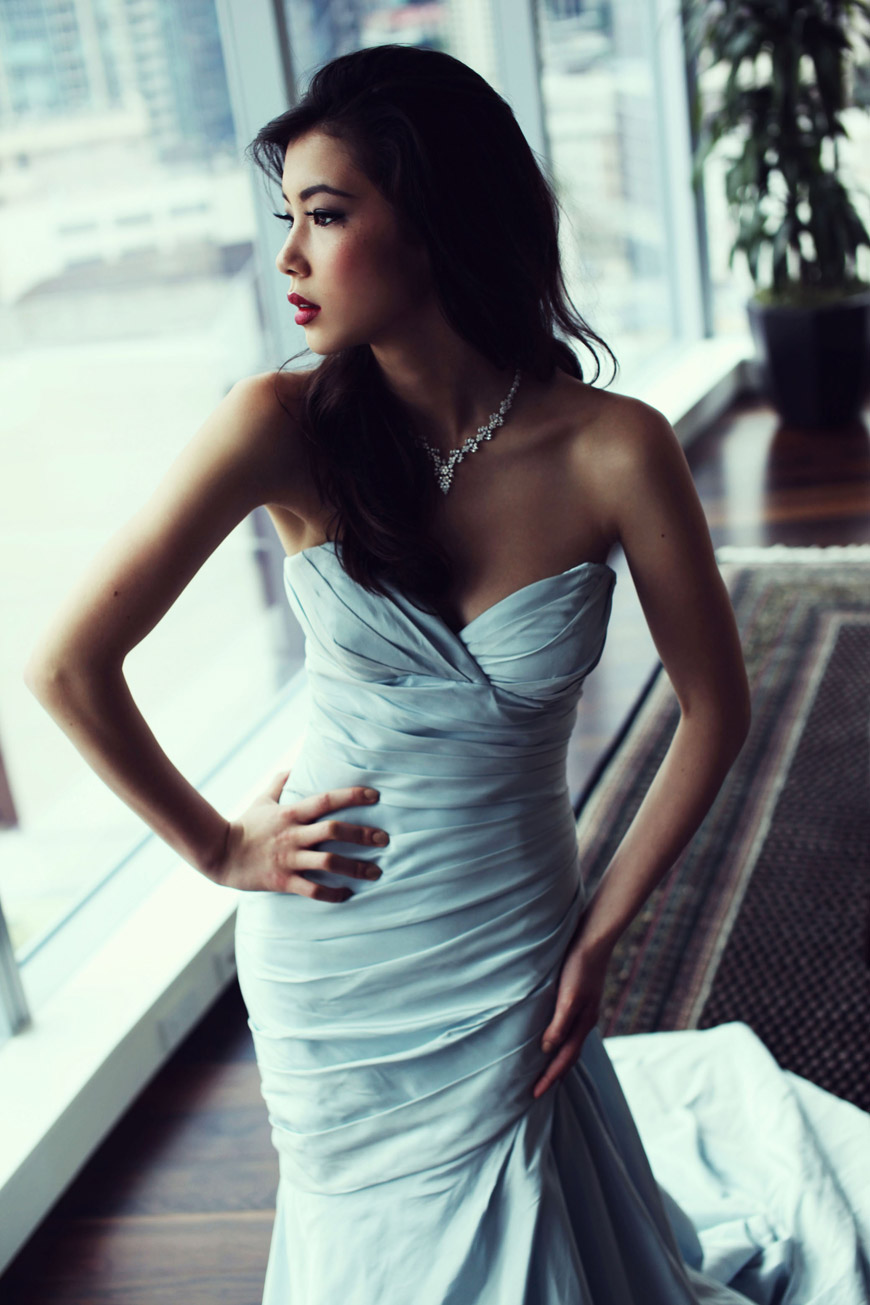 Glacier bridal gown by Luly Yang