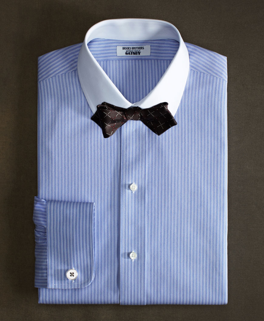 Neonscope in the great gatsby style by brooks brothers for Blue and white striped shirt with white collar