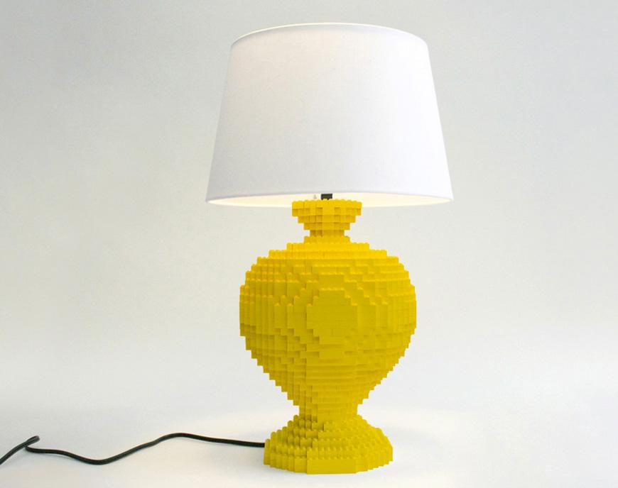 Lexington Lego lamp by Sean Kenney