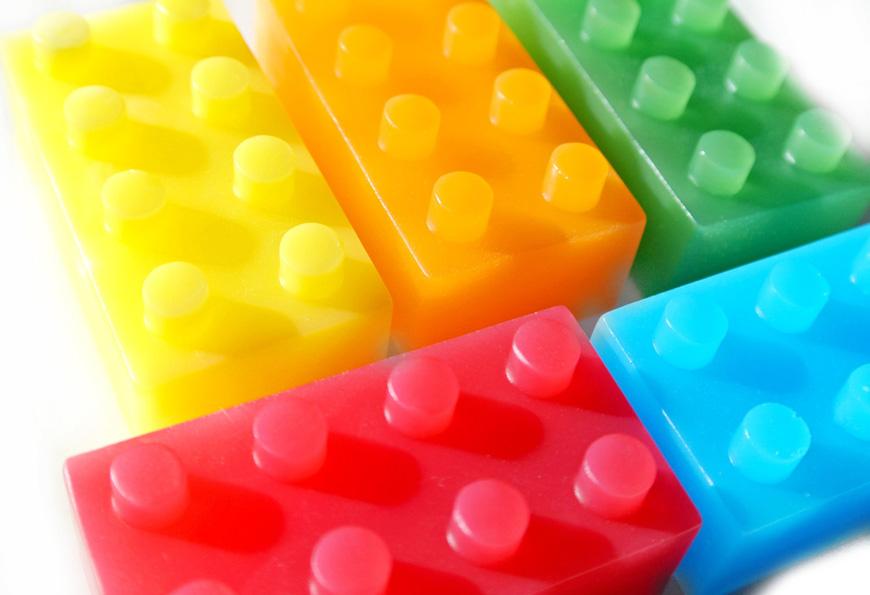 Lego shaped soaps by Sky Rain Soap