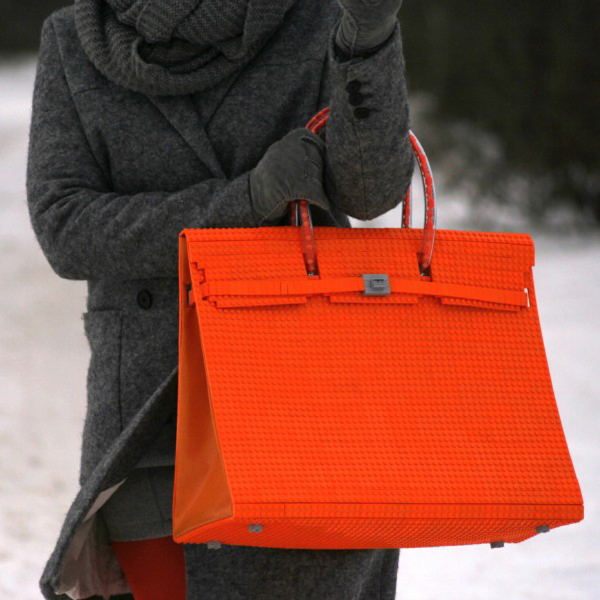 Tribute to the Birkin bag in Lego, by agabag