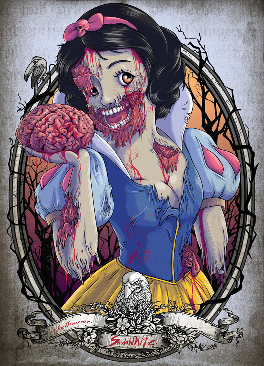 Zombie Snow White by Clocktowerman