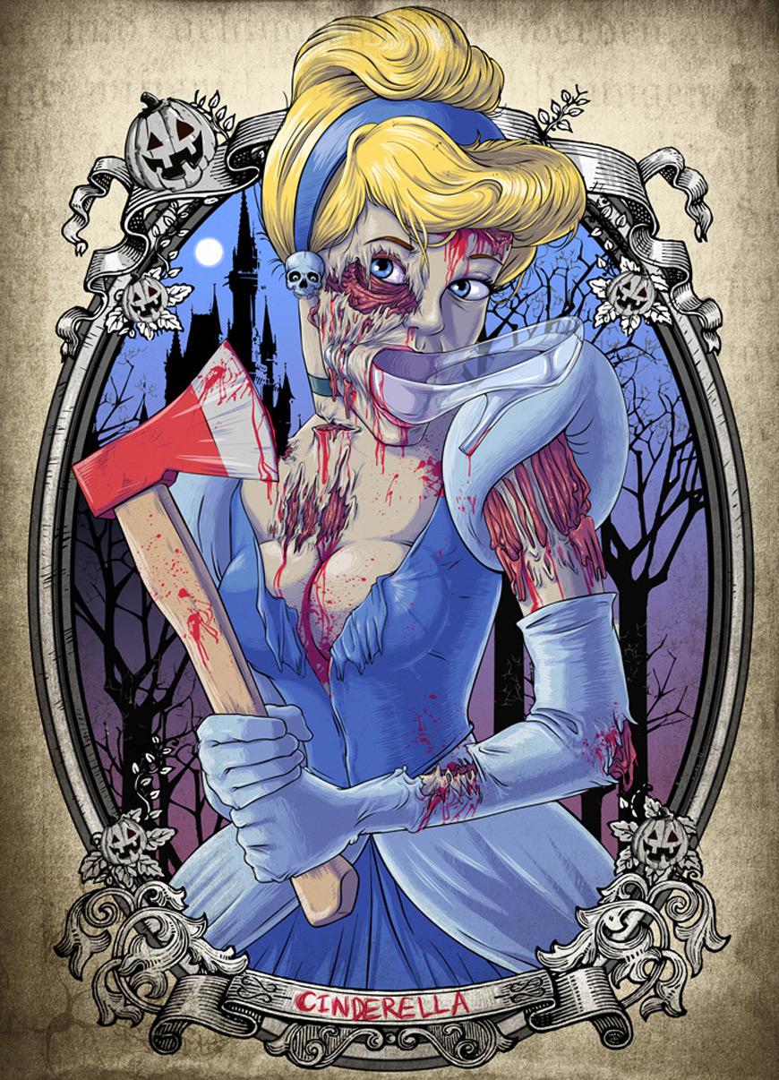 Zombie Cinderella by Clocktowerman