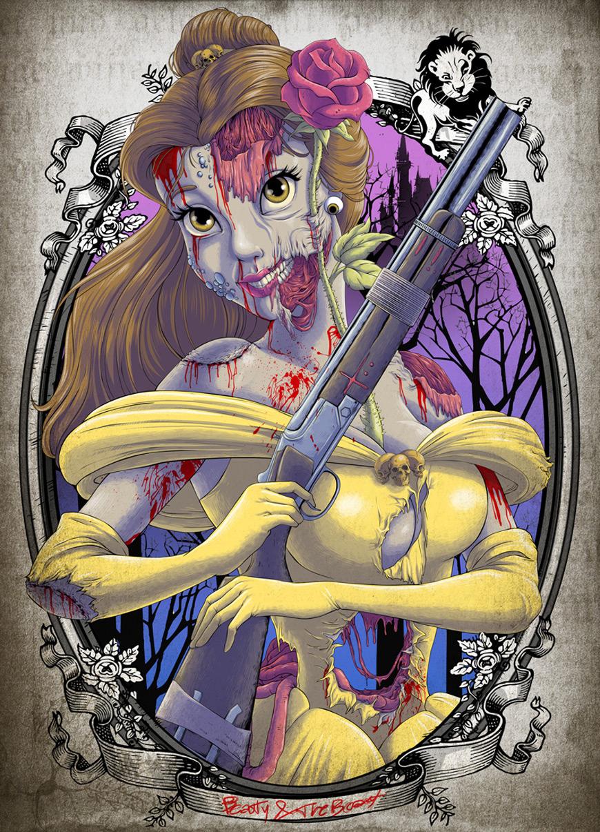 Zombie Belle by Clocktowerman