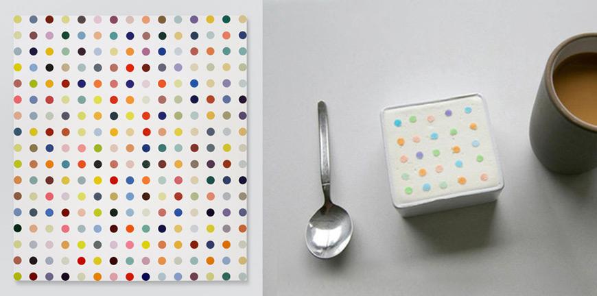 Damien Hirst art dessert