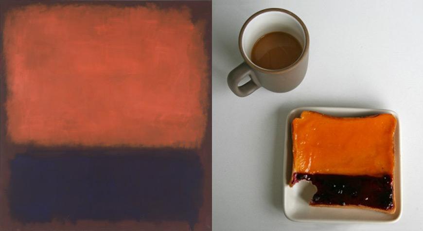 Mark Rothko art dessert