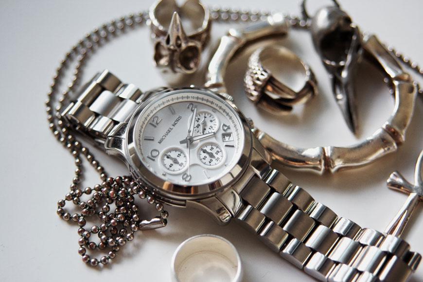 bracelets and Michael Kors watch