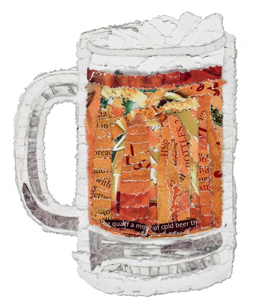 Hand and Beak beer postcard