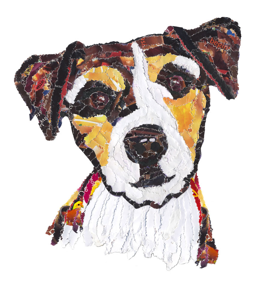 Hand and Beak dog postcard