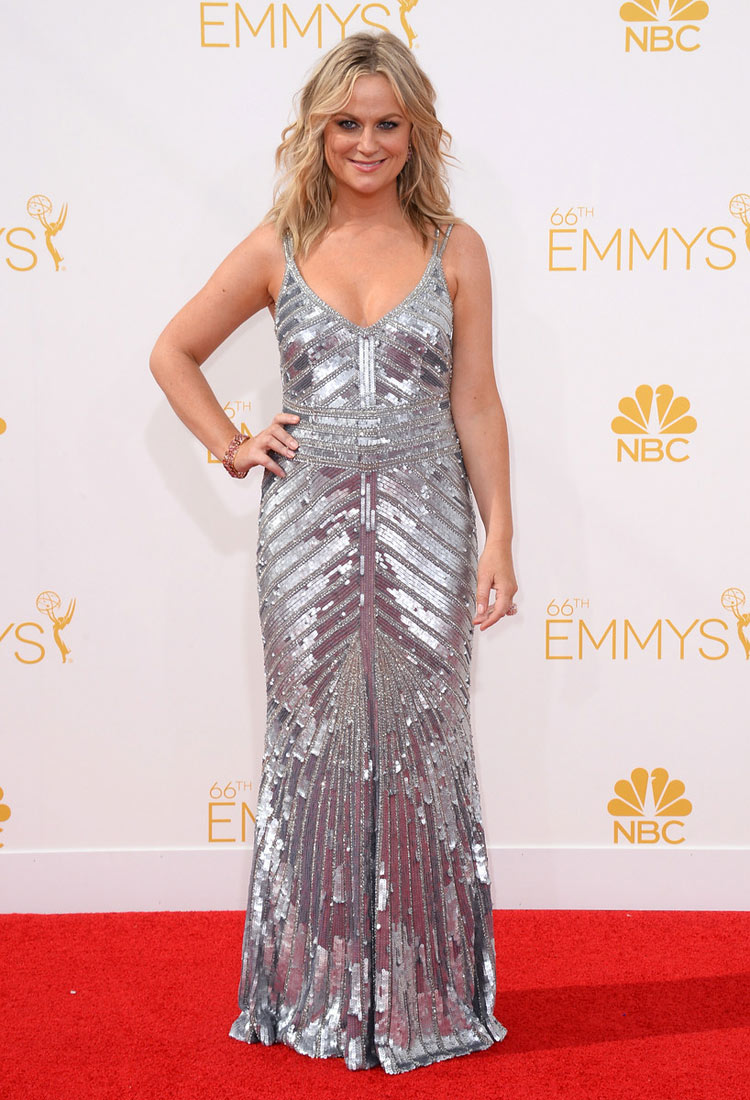Amy Poehler in Theia at the 2014 Emmy Awards