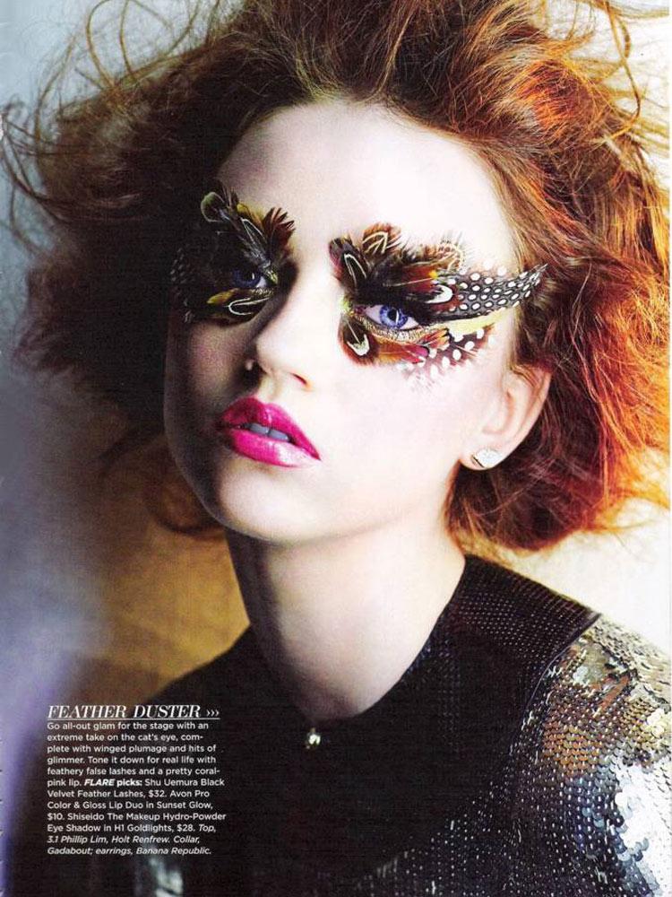 Model: Ana Kurylo / Flare Magazine / December 2010