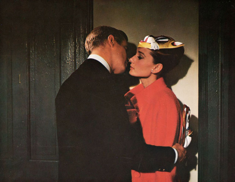 802e52f5fb72 George Peppard and Audrey Hepburn in Breakfast at Tiffany s