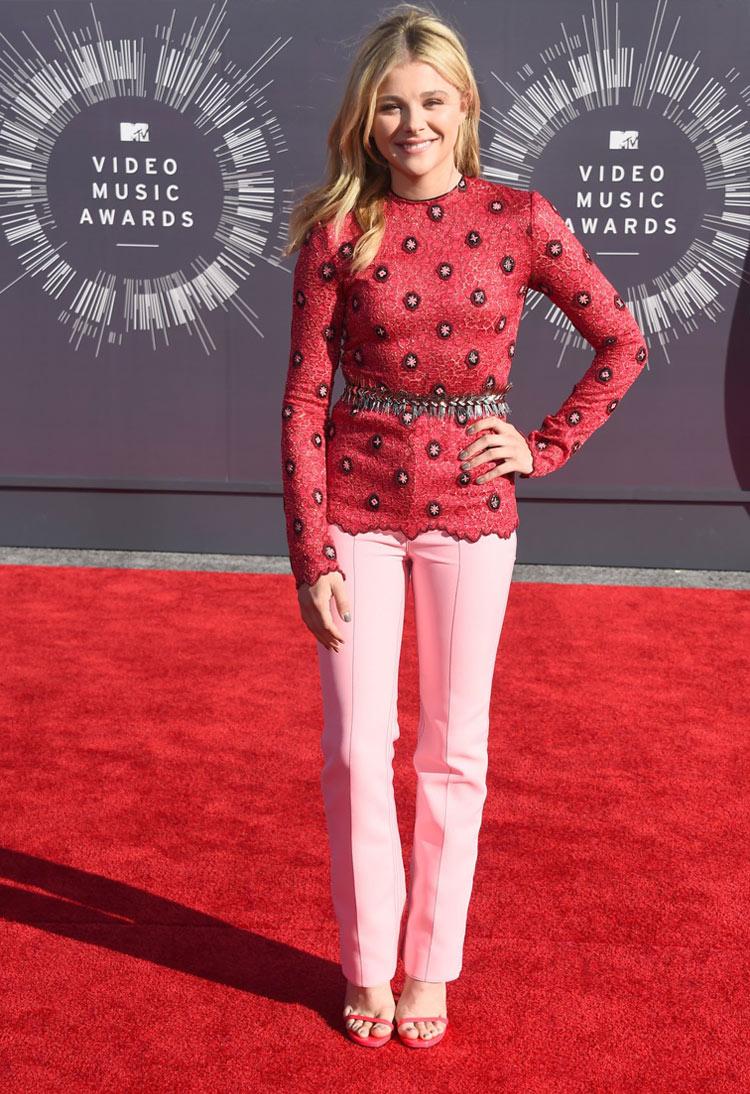 Chloë Grace Moretz in Louis Vuitton at the 2014 MTV VMAS