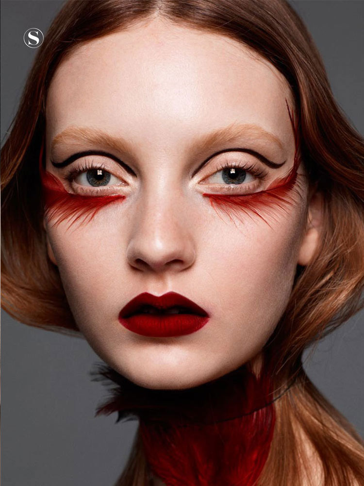 15 Cool Makeup Looks With Feathers