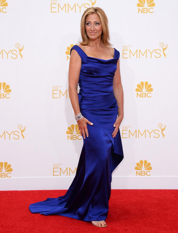 Edie Falco in Escada at the 2014 Emmy Awards