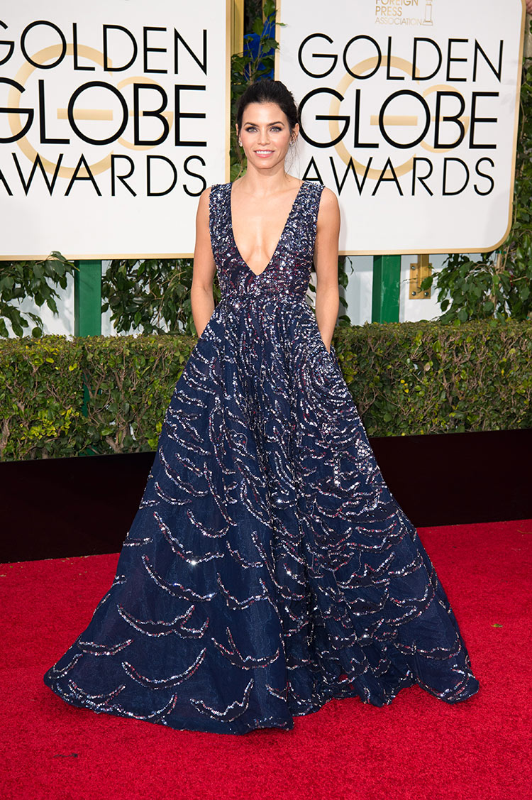 Jenna Dewan Tatum wearing Zuhair Murad at the 2016 Golden Globe Awards