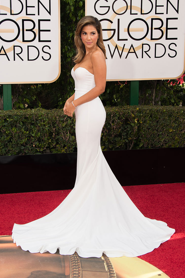 Liz Hernandez at the 2016 Golden Globe Awards